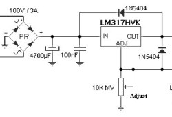 57V variable power supply up to 1.5 A