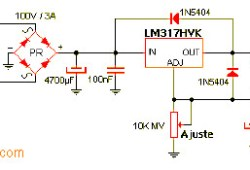 1.2V – 57V Regulated DC Power Supply Circuit