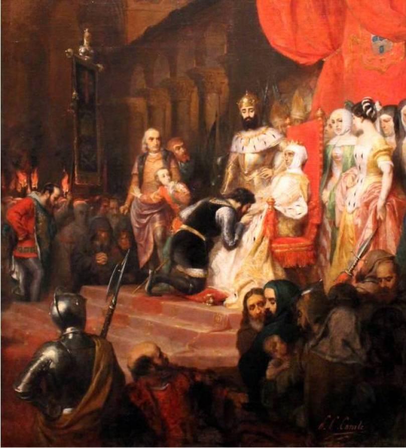 Пьер-Шарль Конт. Коронация Инес де Кастро 1849 г.