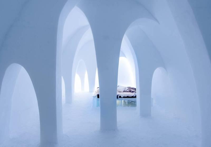 Ледяная гостиница. Швеция.