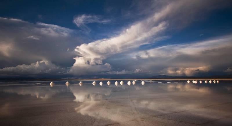 Боливия соленое озеро