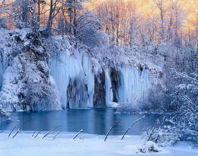 Плитвицкие озера зима