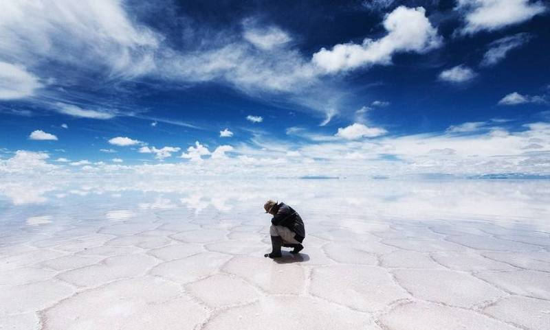 Соляное озеро Боливия