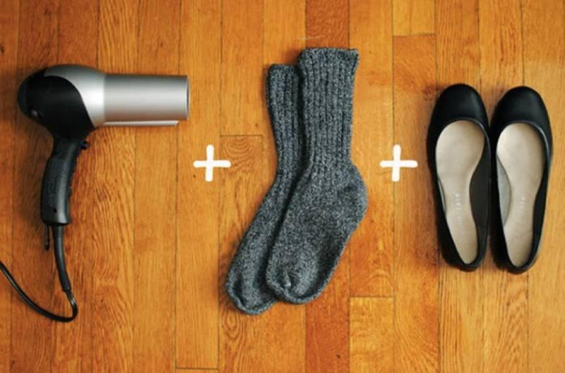 Фен и шерстяные носки сделают обувь комфортнее!