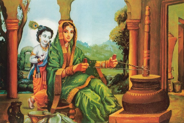 krishna-as-damodar-with-his-mother-yasoda-churning-butter