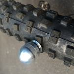 Dynaplug Micro Pro fully inserted in a Schwallabe mountain bike tire
