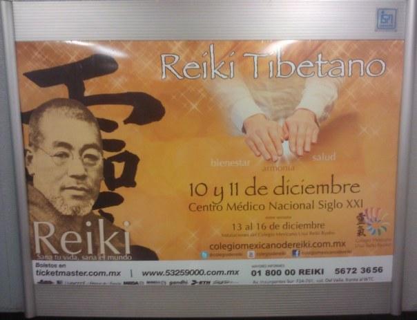 Comercial Reiki en el metro de la Ciudad de México