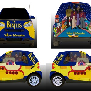 Beatles Vehicle Wrap