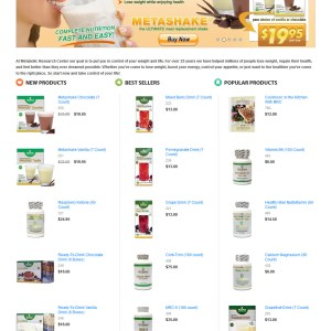 Metabolic Research Center Web Store