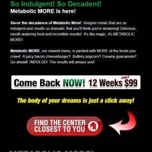 Email Campaign - Metabolic Research Center