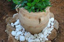 Πως να διακοσμήσουμε τις γλάστρες μας με πέτρες και βότσαλα