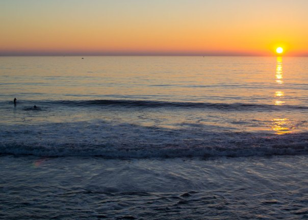 Photo: sunset on the Pacific Ocean