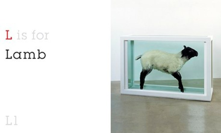 L is for Lamb, from ABC by Damien Hirst