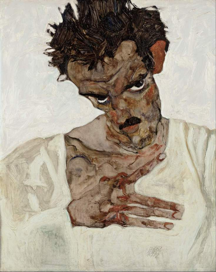 Egon_Schiele_-_Self-Portrait_with_Lowered_Head_-_Google_Art_Project-001