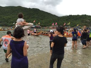 Keeping fit watching the dragon boat race at Tai Tam