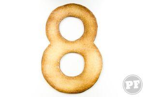 8 Anos: Cookies e Tipografia por PratoFundo