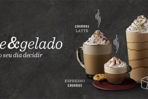 Starbucks lança bebidas Sabor Churros