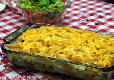 penne chicken tabled