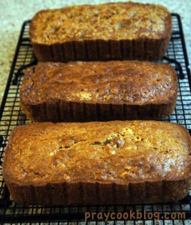3 loaves banana bread