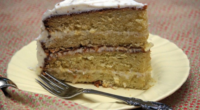 italian cream cake slice