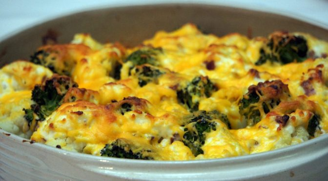 Loaded Broccoli and Cauliflower