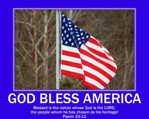 God Bless America Psalm 33-12