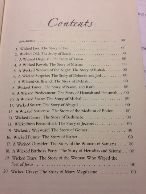 Wicked Women Contents page