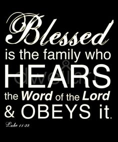 Blessed is the family