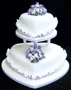 Small Of Purple Wedding Cakes