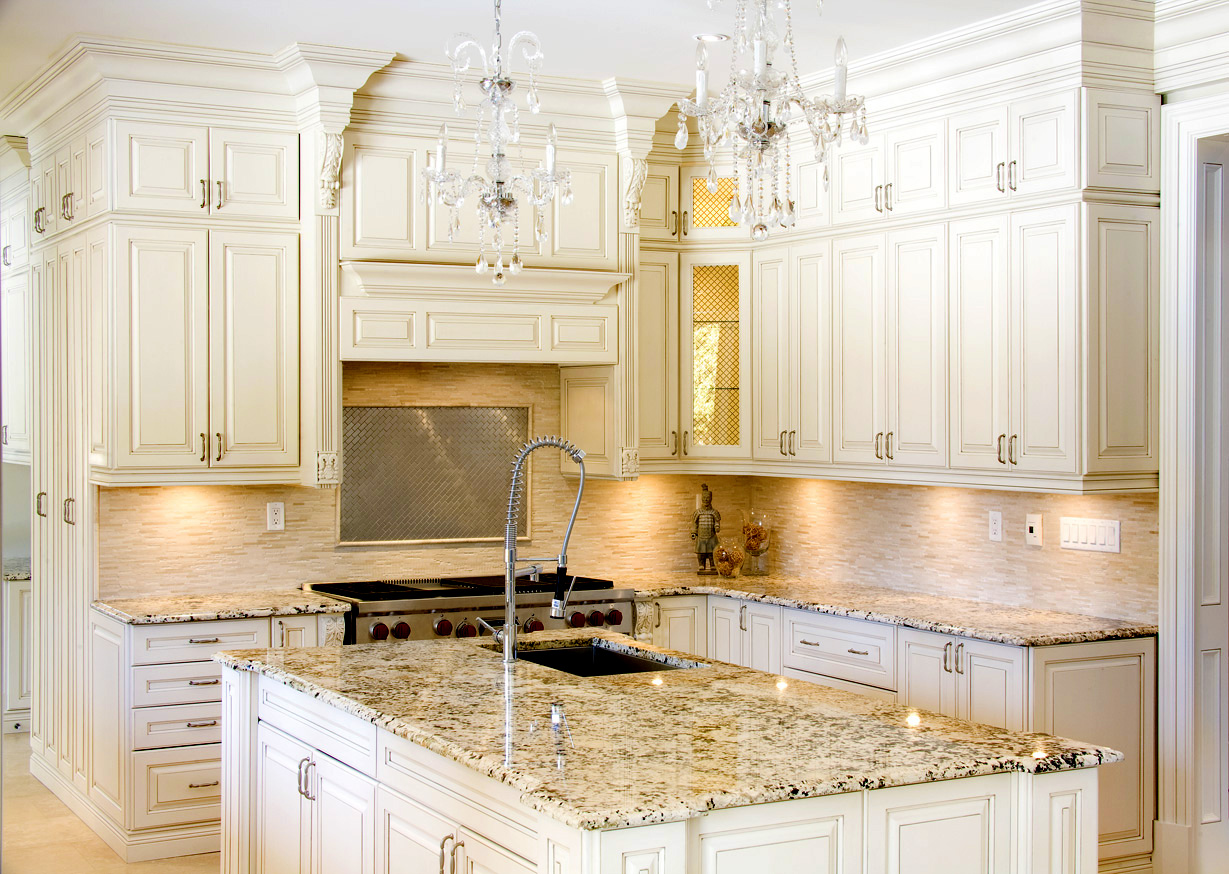 premiergranitecountertop kitchen granite countertop Kitchen White