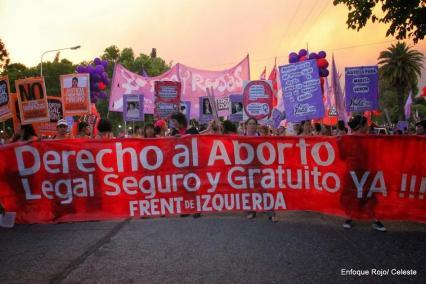 marcha aborto e izquierda