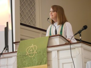 Rev. Whitney Wilkinson Preaching at Presbytery Meeting