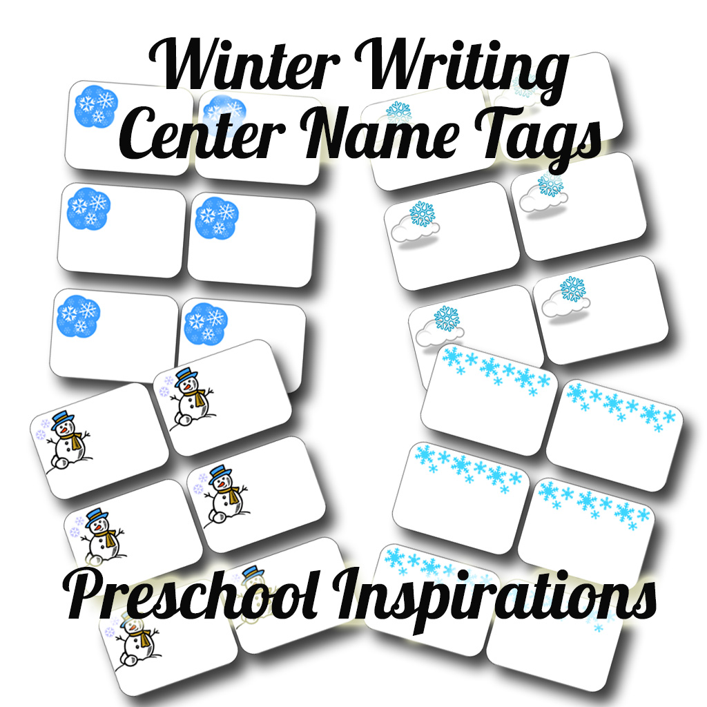 Winter Writing Center Name Tags by Preschool Inspirations-5