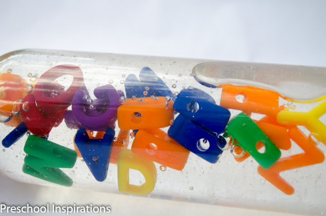 Alphabet Discovery Bottle by Preschool Inspirations-8