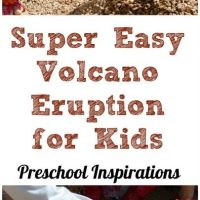 Easy Baking Soda and Vinegar Volcano Eruption for Kids