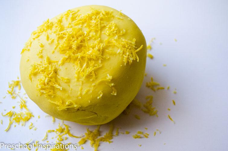 Lemonade Scented Playdough by Preschool Inspirations-2