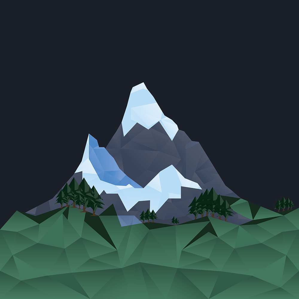 Polygonal Mountainscape