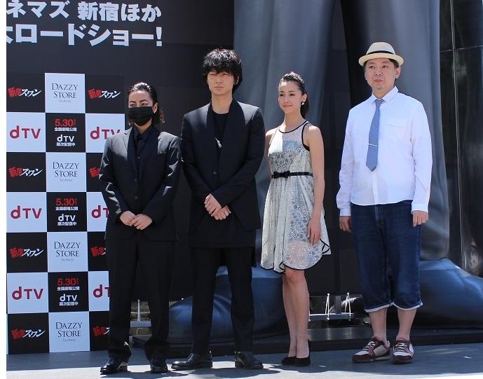 8mの巨大像ついにお披露目!映画「新宿スワン」BIG龍彦Project IN 新宿 オープニングセレモニーレポート