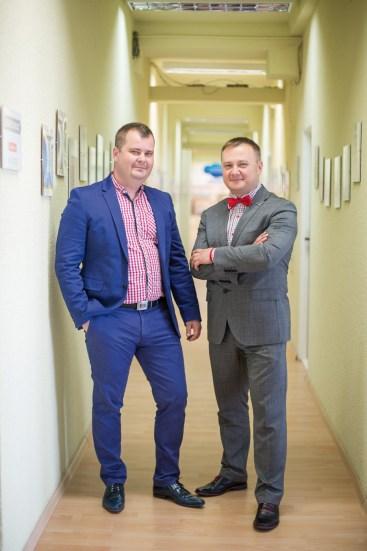 Robert Bodendorf i Jakub Talewski - jeden z najbliższych, długoletnich współpracowników prezesa, obecnie wspólnik w Mikroserwisie.