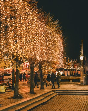 Christmas lights at Nyhavn