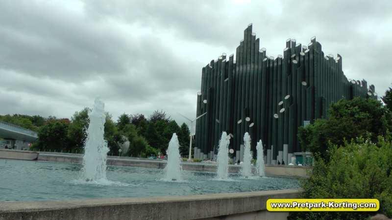 Futuroscope pretpark Frankrijk - futuristische gebouwen