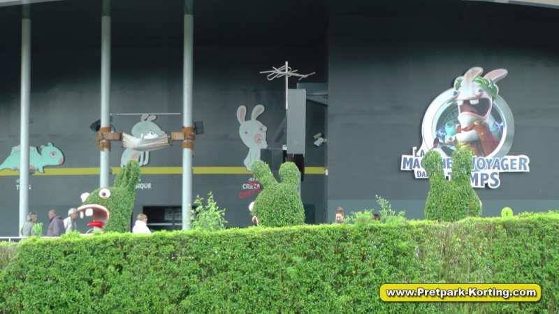 Futuroscope pretpark Frankrijk - Raving Rabbids attractie