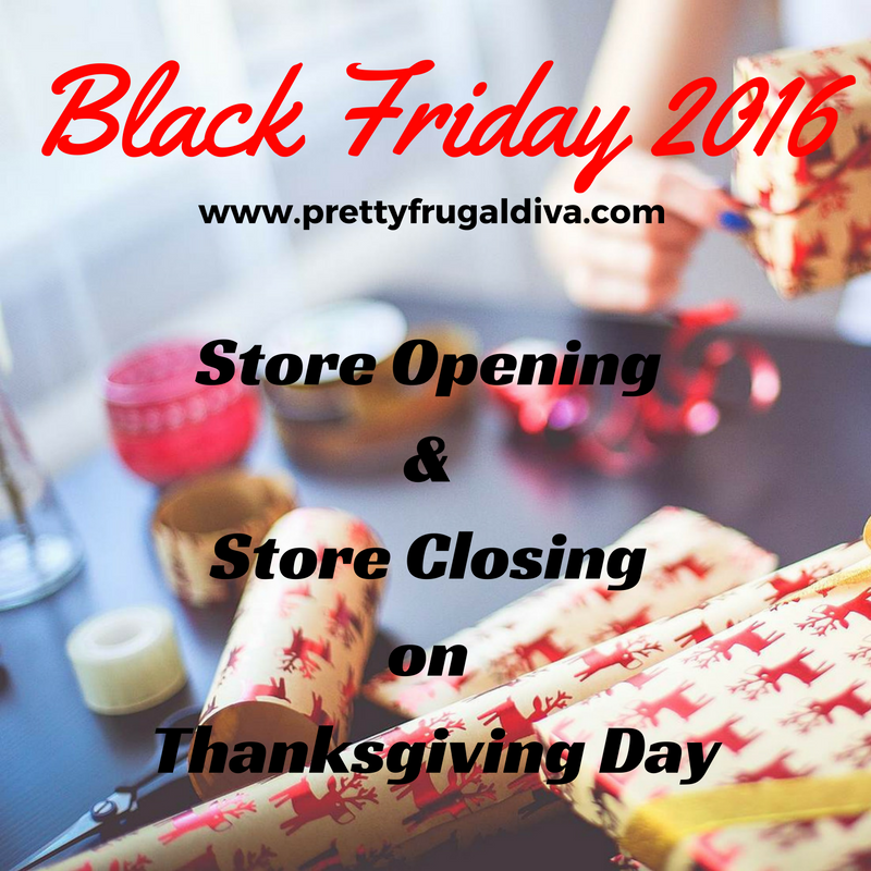 What clothing stores are open on thanksgiving