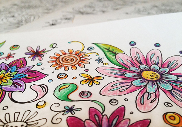 Adult colouring in