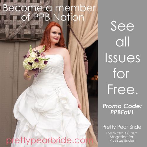 plus size bride, fall promo