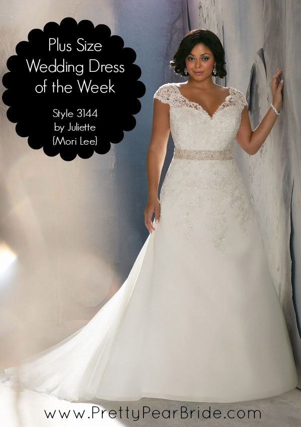 {Plus Size Wedding Dress of the Week} Style 3144 by Julietta {Mori Lee}