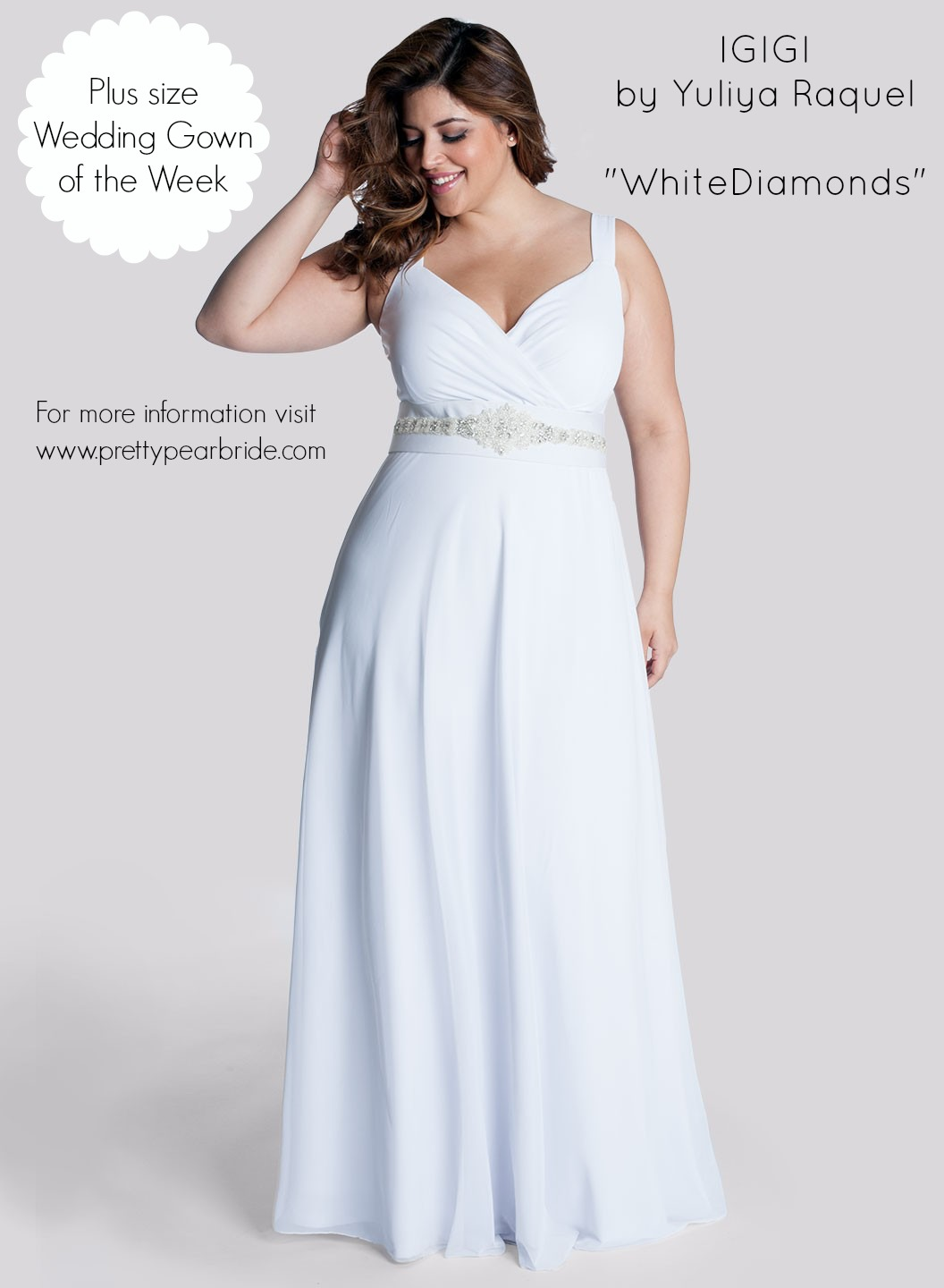 s plus+size+wedding+dress+of+the+week plus sized wedding dresses Plus Size Wedding Dress of the Week IGIGI White Diamonds