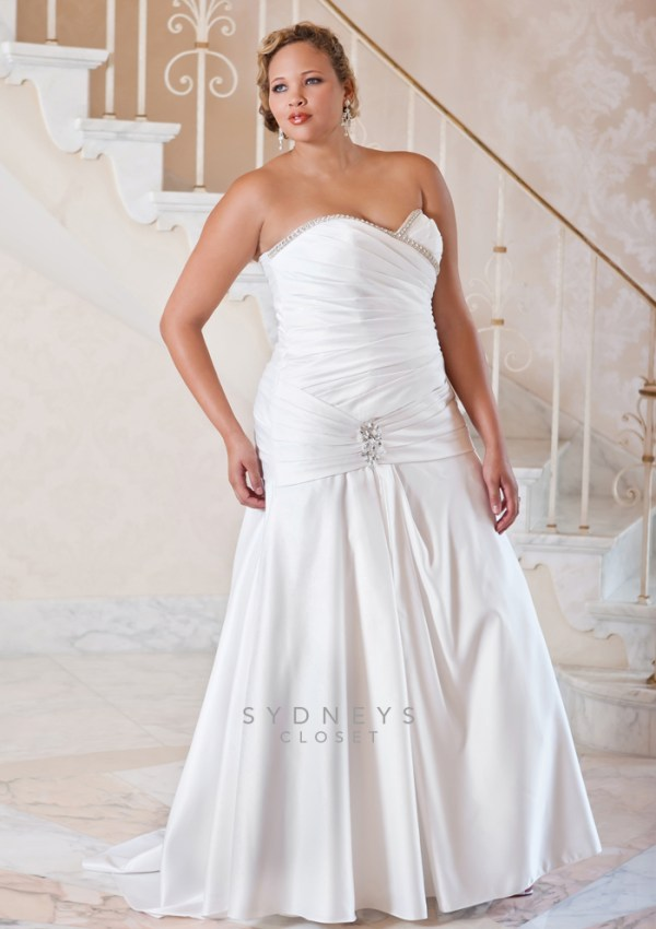 sydney's closet plus size wedding dress