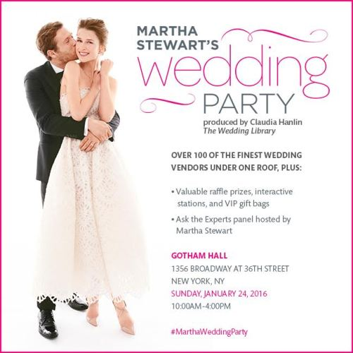 {Contest} Win Tickets to Martha Stewart's Wedding Party