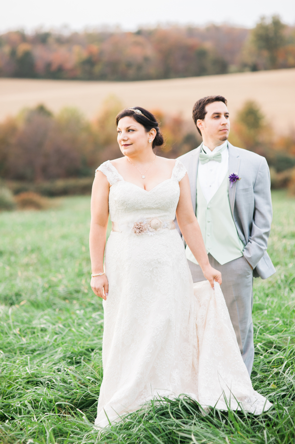 {Real Plus Size Wedding} DIY Gold & Purple Rixey Manor Wedding | Sarah Houston Photography